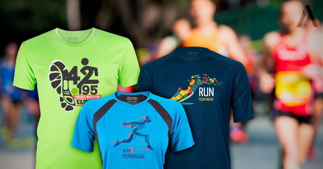 Firmenlauf-Shirts in verschiedenen Varianten