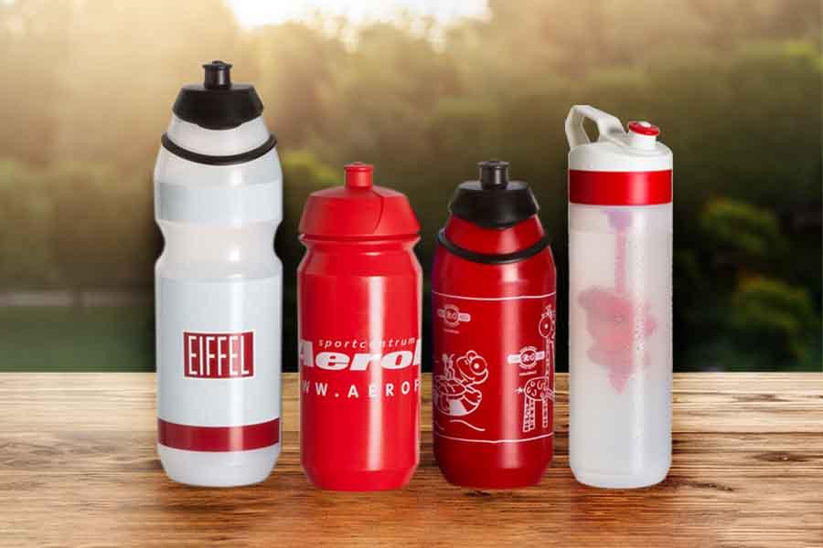 Viele Trinkflaschen-Modelle zur Auswahl