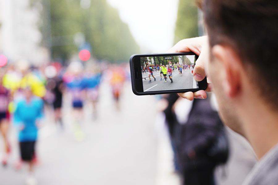 Live-Fotos von der Strecke sind super Content für Ihr Marketing
