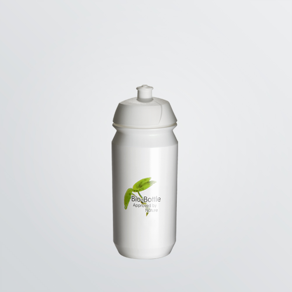 Shiva Bio Trinkflasche aus abbaubarem Kunststoff zum Bedrucken 500ml weiß