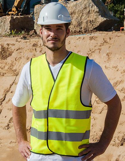 KX500 - Safety Vest EN ISO 20471 - Hochwertige Standard-Warnweste mit schwarzen Saumnähten