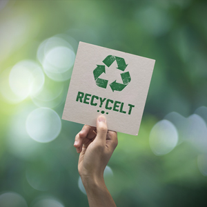 Recycelte Produkte