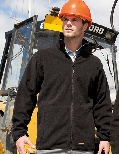 RT330 - Microfleece Arbeitsjacke - Atmungsaktive Microfleece Workwear-Jacke mit Stehkragen