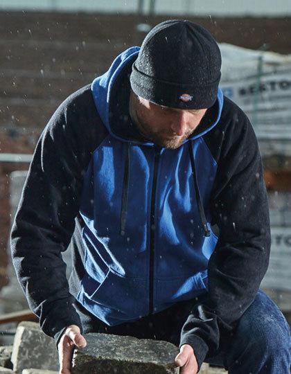 DK3009 - Hoody Work Jacket - Zweifarbige Sweat-Jacke mit Kängurutaschen und Kordeln