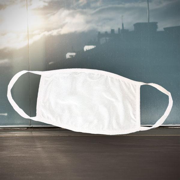Mund- und Nasen-Maske - weiß - Einfarbige weiße Maske zum nachträglichen Bedrucken - Sublimation