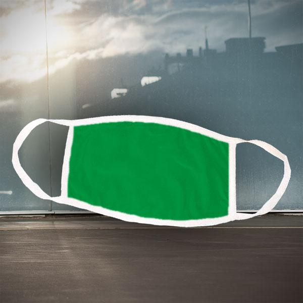 Mund- und Nasen-Maske - weiß grün - Einfarbige grüne Maske für nachträgliche Bedruckung
