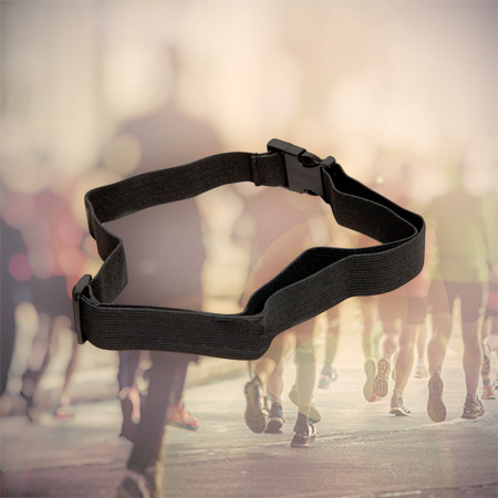 Pro Racenumberbelt - Adjustable racenumberbelt for triathlon, running and cycling events