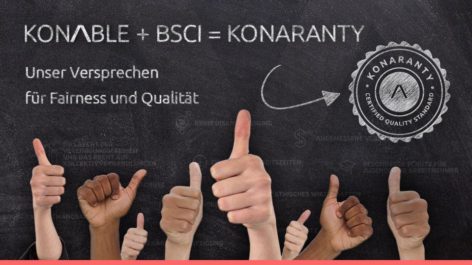 KONARANTY: KONABLE ist Mitglied bei BSCI und BEPI