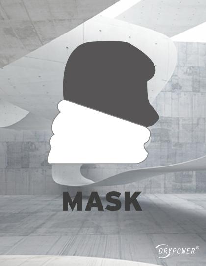 Multifunktionstuch - getragen als Maske