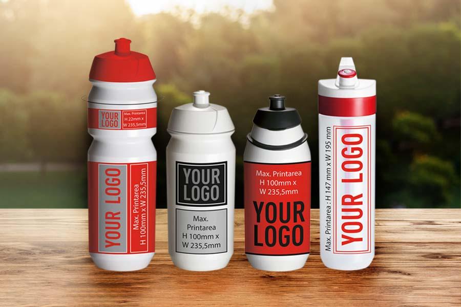 Trinkflaschen mit großen Druckflächen für Ihr Logo