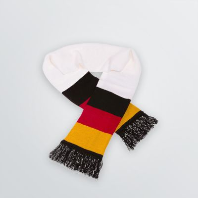 individualised  Fan Scarf as a product example in black-red-gold Germany design