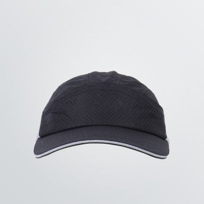 printable and functional Sporet Cap exemplary depicted in black and grey colour combination - front view