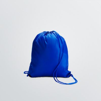 customisable Mini Gymbag in blue colour example