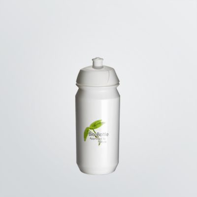 customisable Shiva Bio bottle made of degradable plastic in the colour white and 500ml size