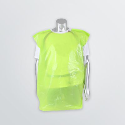 Printable Plastic Vest in green colour example worn by mannequin