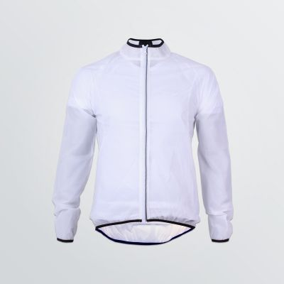 wind resistant Basic Wind Jacket for customisation in white colour with black coloured welt - front view