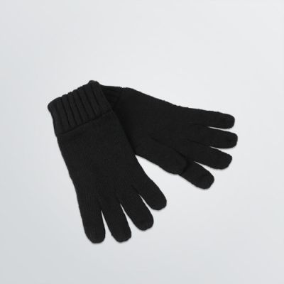 Winter Gloves with lining customisable with logo - black colour example