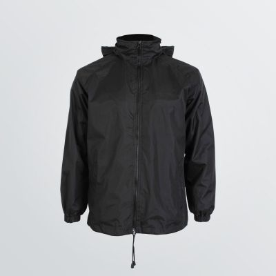 customisable Crew Jacket as a classical one-coloured transition jacket - colour example black front view