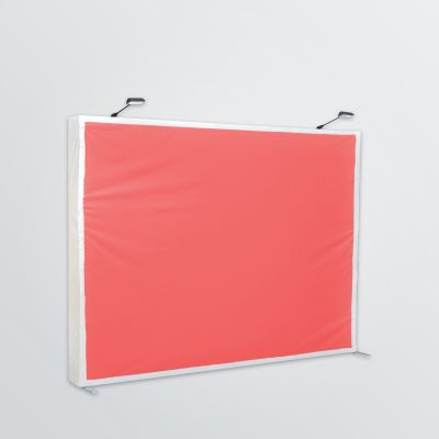 set up display with lighting and aluminum construction customisable - colour example red