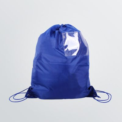 customisable Display Gymbag with compartment - product example in blue colour