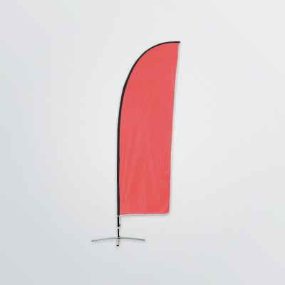 customisable canvas beachflag to set up front view colour example red
