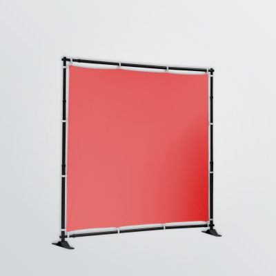 customisable flex-wall with metal construction - colour example red