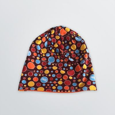 Micro Reversible Beanie for imprints depicted as a product example with dots pattern in different sizes