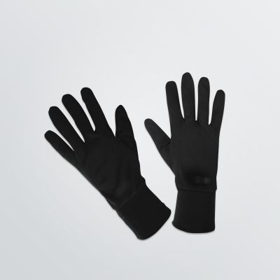 Printable Sport Gloves in black colour example made of light weight and breathable polyester